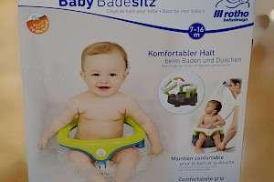 Rotho Babydesign Badesitz Mit aufklappbarem Ring inkl Kindersicherung 7-16 Mo
